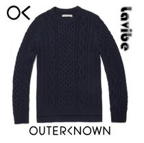 Outer known(アウターノウン) ニット・セーター メリノウール混合★Outerknown★フィッシャーマンセーターMarine