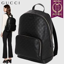 【正規品保証】GUCCI★19春夏★SIGNATURE LEATHER BACKPACK