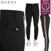 【正規品保証】GUCCI★19春夏★STRETCH GABARDINE RIDING PANTS