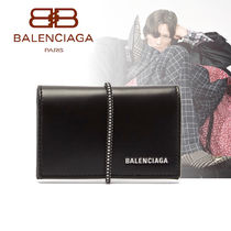 【関税込み】 BALENCIAGA★Logo elasticated-band カードケース