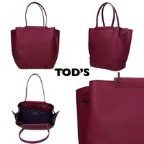 TOD'S(トッズ) トートバッグ sale★イタリア発★TOD'S トートバッグ パープル レッド レザー