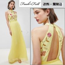 frock & frill(フロックアンドフリル) ワンピース Frock And Frill刺繍トップ Pleatedマキシドレス