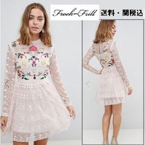 frock & frill(フロックアンドフリル) ワンピース Frock And Frill Petite Premium 刺繍スケータードレス