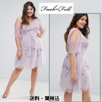 frock & frill(フロックアンドフリル) ワンピース Frock And Frill Plus 刺繍スケータードレス