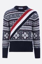 Thom Browne●AW18/19graphic winter isle jacquard pullover