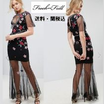frock & frill(フロックアンドフリル) ワンピース Frock And Frill Tall刺繍フィッシュテールマキシドレス