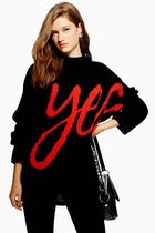 《かっこいい'Yes' ロゴ♪》☆TOPSHOP☆'Yes' Jumper