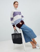 【New Look】New Look Colour Block Stand Neck Jumper