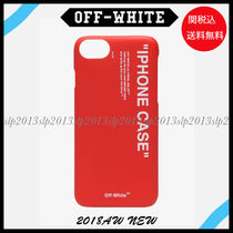 19New■Off-White■ロゴ入りiphone 7/8 ケース Red☆関税込
