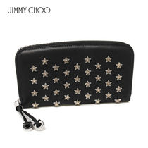 国内即発Jimmy Choo  FILIPA AUS BLACK/SILVER/GOLD 長財布