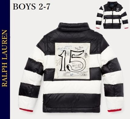 BOYS2-7★Ralph Lauren2-in-1 Stripedダウンジャケット