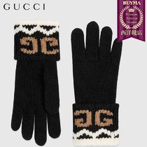 【正規品保証】GUCCI★18秋冬★WOOL GLOVES WITH MIRRORED GG