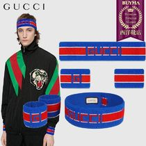 【正規品保証】GUCCI★19春夏★STRIPE HEADBAND&WRIST CUFFS