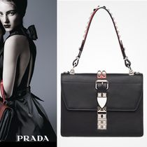 【VIP価格購入】prada elektra leather shoulder bag