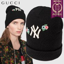 【正規品保証】GUCCI★18秋冬★WOOL HAT WITH NY YANKEES PATCH