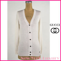 GUCCI★グッチ★素敵!OFF WHITE Cashmere V-Neck Cardigan