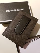 Michael Kors  Signature Card Case W Money Clip In Gift Box