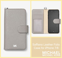 [セール]マイケルコース☆Saffiano Leather Folio iPhone 7/8