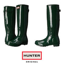 【Hunter】新作♡OriginalBack AdjustableGloss Rain Boots
