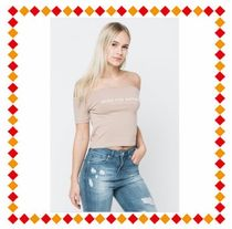 GOOD FOR NOTHING(グッドフォーナッシング) トップスその他 【関税・送料込】GOOD FOR NOTHING Off the Shoulder Dust Pink