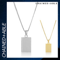 Chained & Able タグ シルバー ネックレス アクセサリー 銀 各色