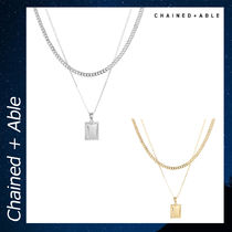 Chained & Able PLAIN TAG LAYER アクセサリー ネックレス 各色