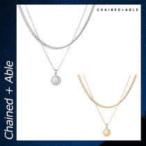 Chained & Able PLAIN MEDALLION アクセサリー ネックレス 各色
