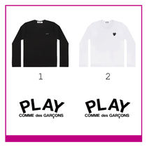 COMME des GARCONS Ladys ブラックプレイ長袖Tシャツ