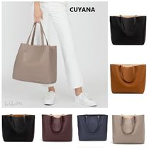 CUYANA★クヤナ  Classic Structured Leather Tote トートバッグ