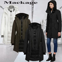 **Mackage**BECKAH fitted parka with removable rib collar