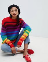 【ASOS】ASOS DESIGN Tall jumper in bright stripe