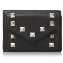 VALENTINO★ギフト人気 ROCKSTUD SMALL WALLET QW1P0Q47 BOL 0NO