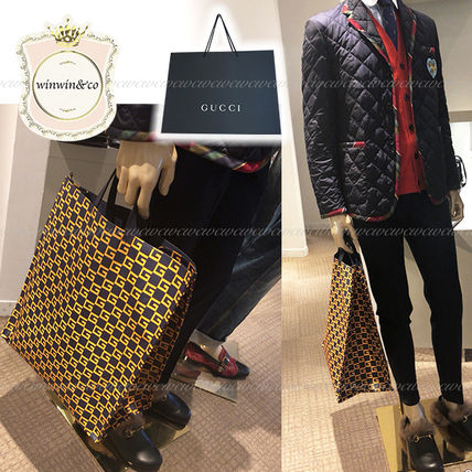 new style 6746a 8c938 SALE【国内発送】GUCCI◆メンズ グッチロゴトートバッグ