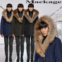 **Mackage**AKIVA hip length down coat with fur-lined hood