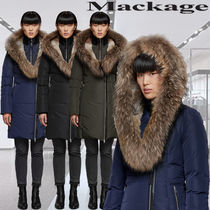 **Mackage**TRISH fitted winter down coat with fur-lined hood