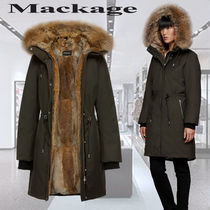 **Mackage**DENIA fitted hooded parka lined with furダウン