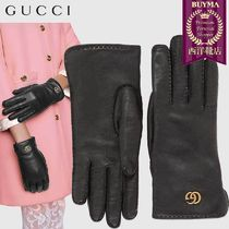【正規品保証】GUCCI★18秋冬★LEATHER GLOVES WITH DOUBLE G