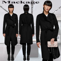 **Mackage**LEORA long wool jacket with stand collar