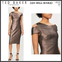 【関税込】TED BAKER ドレス☆Cutout-shoulder metallic dress