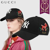 【正規品保証】GUCCI★19春夏★BASEBALL CAP W/NY YANKEES PATCH
