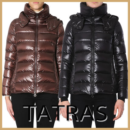 "【TATRAS】""DRENA"" DOWN JACKET WITH SHINY NYLON HOOD"