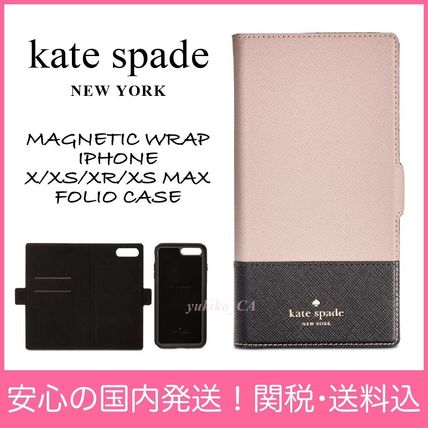 kate spade new york スマホケース・テックアクセサリー 【国内発送】MAGNETIC WRAP IPHONE X/XS/XR/XS MAX FOLIO CASE