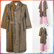HOPE(ホープ) コート 【送料・関税等込み】checked belted coat