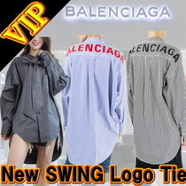 "◆◆VIP◆◆ BALENCIAGA ""New SWING"" Tie Check Shirt - UNISEX"