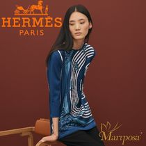 19SS 新作 HERMES Pull tunique Twillaine imprime Astrologie