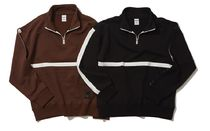 Default(デフォルト) パーカー・フーディ ★韓國★ SALE! [GAINSBORO] TAPING PULLOVER HALF ZIP (2色)