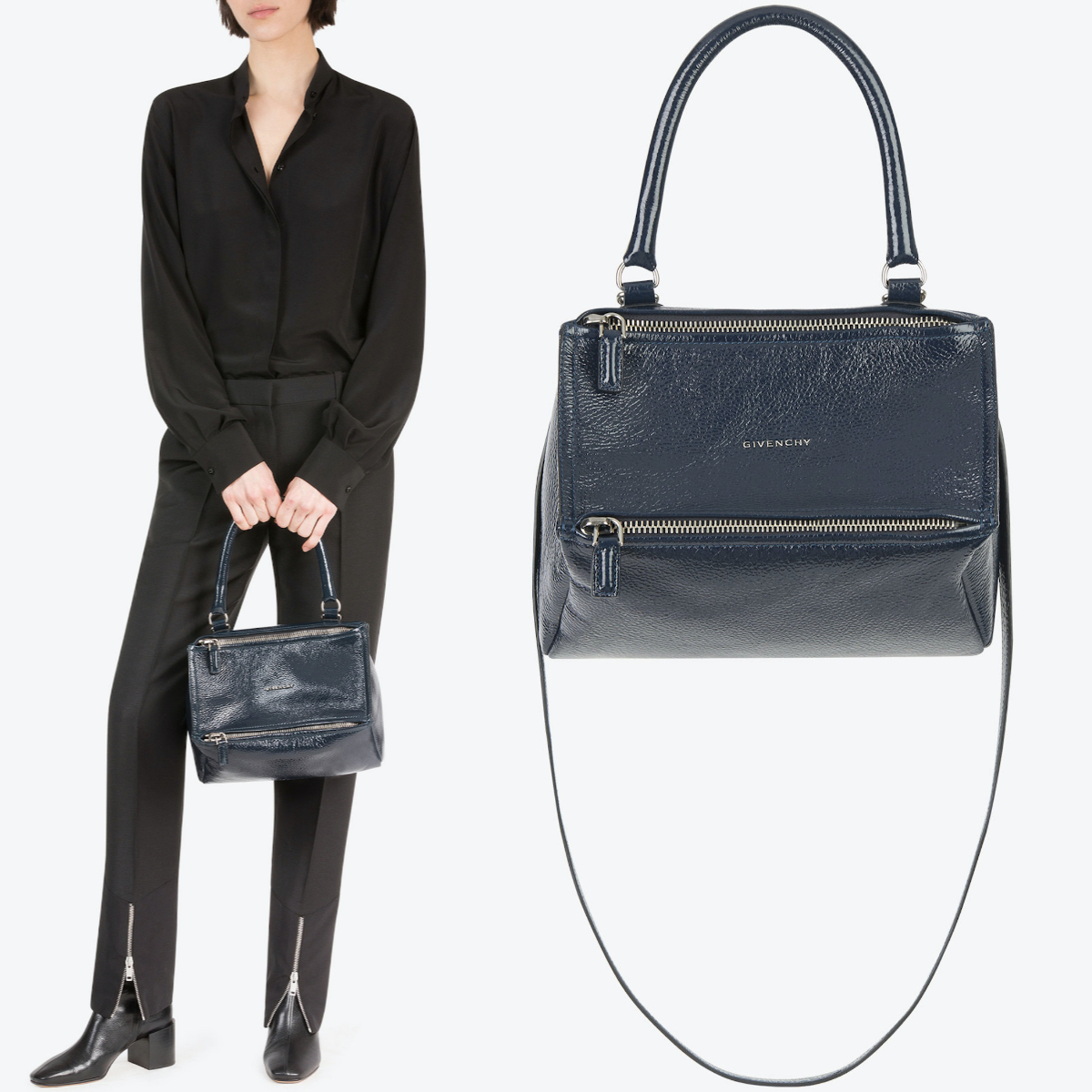18-19AW G400 SMALL PANDORA BAG IN PATENT LEATHER (GIVENCHY/ハンドバッグ) BB500AB05M-402
