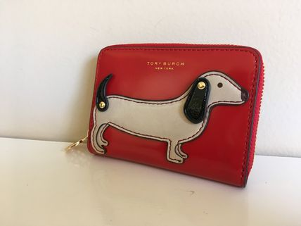 TORY BURCH DACHSHUND ZIP COIN CASE セール 即発送