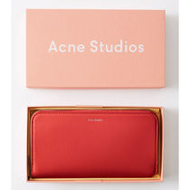 Acne☆Continental wallet  長財布 / red