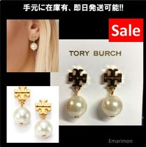 2018年新作 ★Tory Burch★ LOGO PEARL DROP EARRING ピアス